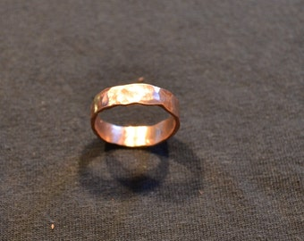 Hand Hammered Copper Ring