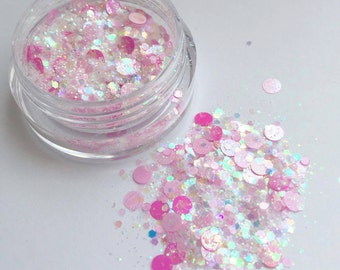 Pink Seahorse Face Glitter
