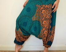 Rose Harem Trousers - Hippie Boho Gypsy Yoga Hopper