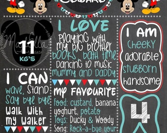 Mickey Mouse Birthday/Milestone Chalkboard