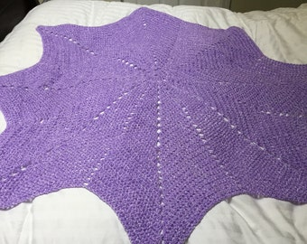 Star shaped baby blanket