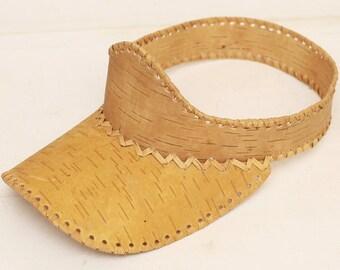 Cap visor made of birch bark