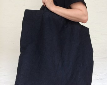 denim shopper blue tote shoulder bag black tote