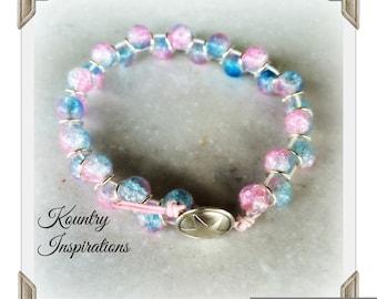 Goddess Bracelet, Antique Button, Vintage Button, Gemstone Bracelet, Boho Chic, Beaded Bracelet, Arm Candy, (Ready to Ship)