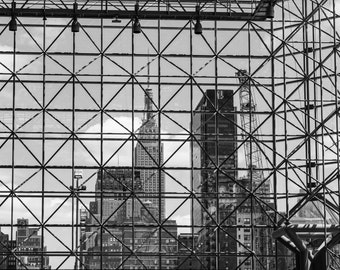 Empire State Building, Javits Center, Black & White Photography, NYC, NYC Art, NYC Photography, Wall Art, Home Decor, Wall Decor