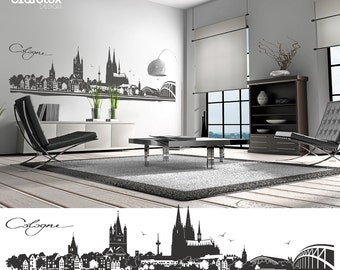 Cologne COLOGNE wall decals wall sticker wall stickers skyline 4 sizes of wall decoration decal sticker wall art motif W106