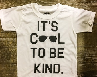 Kids Graphic Tee | Youth Shirt | Toddler Tshirt | Cool to be Kind | Be Kind | Kids Tshirt