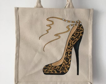 Jools bags are individually designed, hand painted stylish 30x30x20 Canvas Tote bags