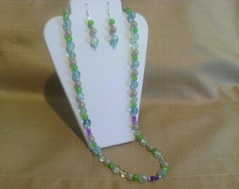 274 Bohemian Twenty Six Inch Beaded Glass Necklace