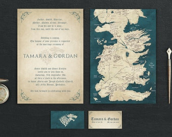 Game thrones invitation | Etsy