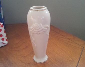 Lenox, Rose Blossom, Vase with Gold Trim