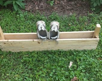 rustic wood shoe organizer