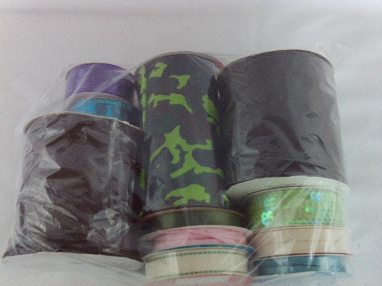 ribbon camo brown pink blue purple aqua 11 rolls by