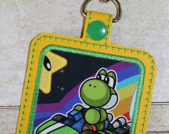 """Turtle Racer """"The Square"""" vinyl bagtag keychain"""