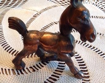 Brass horse figurine