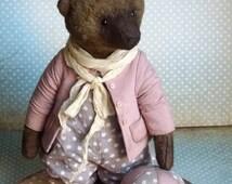 Artist Teddy Bears Claudius Collector Plush Collectible Stuffed Toys  Bear Sawdust Stuffed Interior Decor Vintage Style Sawdust Filler OOAK