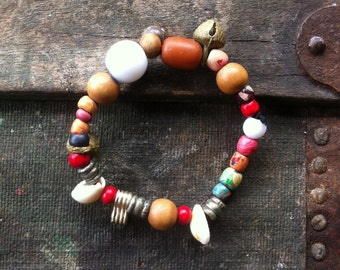 Handmade beaded bracelet recycled