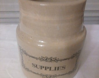 Antique Stoneware Utensil Holder