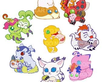 Digimon stickers