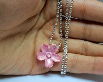 sakura flower necklace