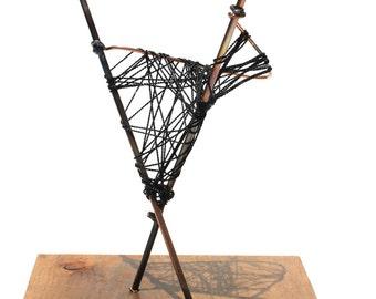 Unique Abstract Art Sculpture Mid Century Modern Statue String Art