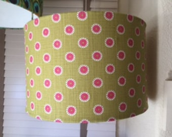 V/A Pretty Maids Pink on Green 40cm Lampshade