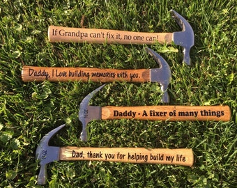 Personalized Hammer, Custom Hammer, For Dad, For Grandpa, Father's Day, Birthday Gift, Christmas, Gift, Anniversary, Hard to buy for men