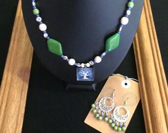 BOHO Babe Necklace and Earrings set: BOHO Mystic Babe