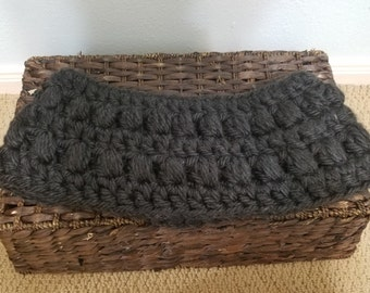 Crocheted Black Cowl