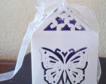 Lavender bag in a beautiful butterfly design box