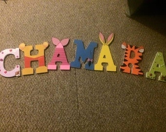 Winnie The Pooh Themed Painted Letters