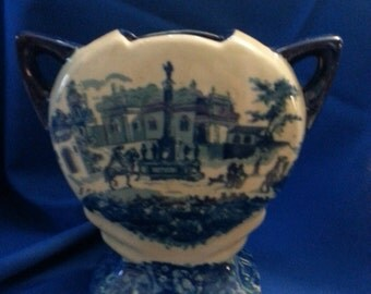 Blue and White Stafford Ironstone Vase