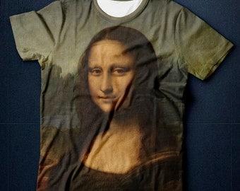 "T-shirt ""Mona Lisa"", T-shirt Painting, Free Shipping, T-shirt priting, Da Vinci"
