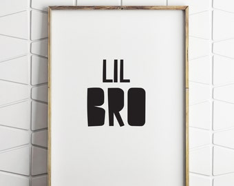 little brother wall decor, little brother wall sign, little brother printable, little brother room decor, lil bro