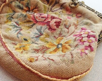 19th Century Petit Point Bag