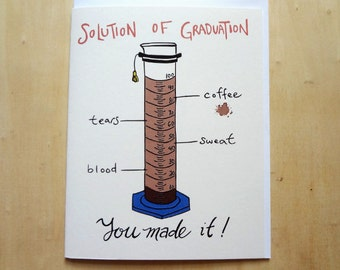 Solution of Graduation Card - Science themed Card