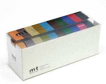 10 colors Japan MT masking tape sample - 50 cm per color - NOT whole roll