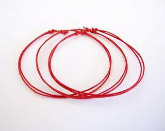 Kabbalah Anklets. Red String Anklet. Good Luck. Evil Eye. Protection. Hamsa. Adjustable. Dainty.
