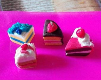 Charms- Various pieces of cake
