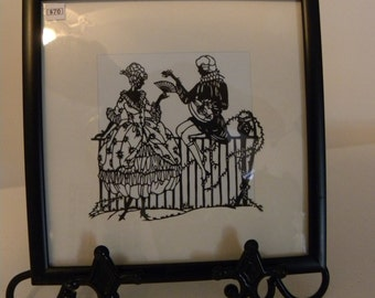 Victorian Courting Silhouette
