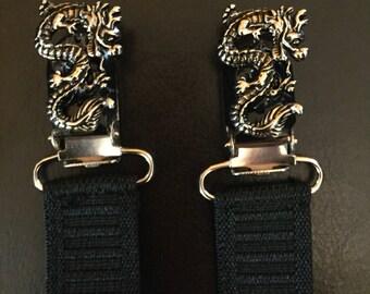 Dragon boot straps.