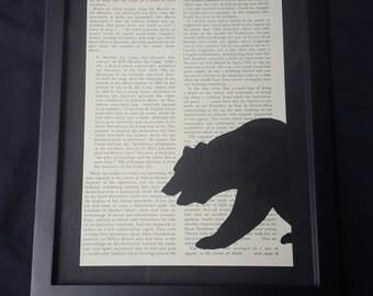Framed bear shadow art
