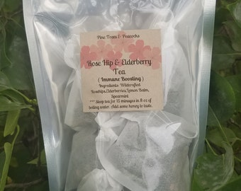 Rose Hips Elderberry Immune Boosting Tea