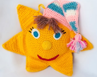 Two knitted sun (toy) - Wool blend yarn