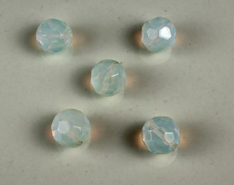 Vintage Frosted Glass AB Crystals 12mm - # 174