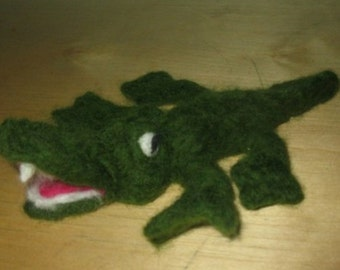 Needle felted crocodile/ Made to order/ Needle felted animal/Fiber art