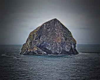 Standard/Gallery Block/Wood-Print - Coastal Rock