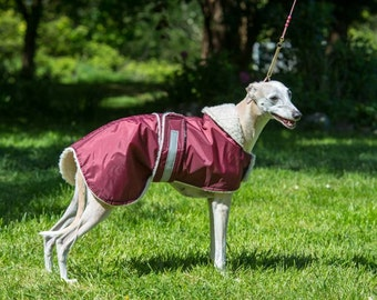 """whippet   waterproof  dog coat  in any colour in sizes 19"""" to 26"""