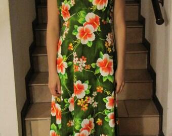 Hawaiian dress Mumu dress 70 60/' original '