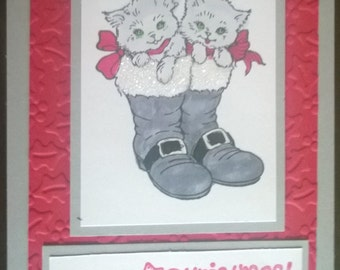 Kittens in Boots - Card Making Kit